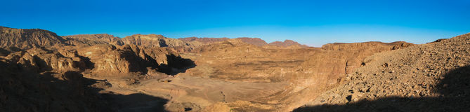Colored canyon in Sinai peninsula, Egypt Royalty Free Stock Photo