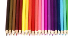 Panorama of colorful pencils Stock Photography
