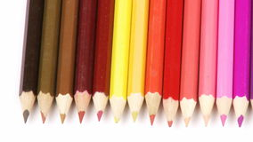 Panorama of colorful pencils in a row Stock Image