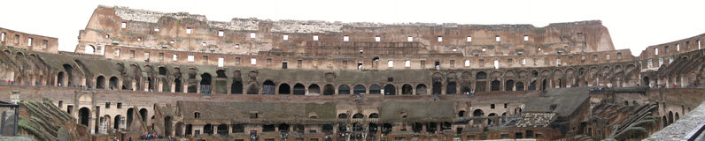 Panorama of Colosseum Stock Image