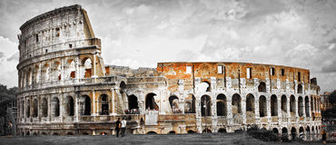 Panorama of Colosseum Stock Photos