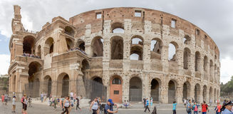 Panorama of the Colosseum in Rome stock photography