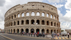 Panorama of the Colosseum in Rome stock photo