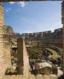 Panorama of Colosseum on a Spring Day Royalty Free Stock Photos