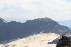 Panorama con la montagna Weissspitze, alpi di Hohe Tauern, Austria Fotografie Stock