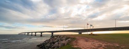 Panorama of Confederation Bridge Royalty Free Stock Photos