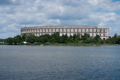 Panorama of the Congress Hall of Nazi party rally grounds of Nuremberg Arcade. Panorama of the Congress Hall of the Nazi party rally grounds in Nuremberg Royalty Free Stock Photography