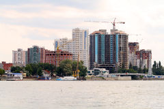 Panorama of construction of new city Stock Photos