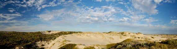 panorama- coorong Arkivfoton