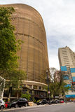 Panorama of the Copan Building in Sao Paulo, Brazil. Copan is the largest residential building in the world royalty free stock photo