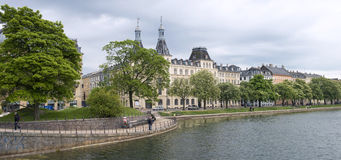 Panorama of Copenhagen Stock Photography