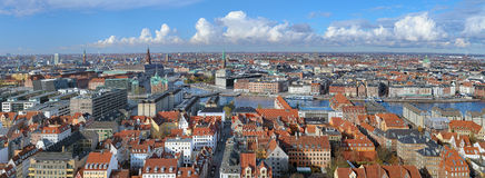 Panorama of Copenhagen, Denmark Stock Image