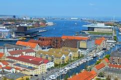 Panorama of the copenhagen River Royalty Free Stock Photo