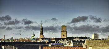 Copenhagen roof tops, Denmark Royalty Free Stock Image
