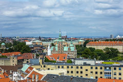 Panorama of Copenhagen Stock Images