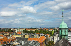 Panorama of Copenhagen Stock Photo