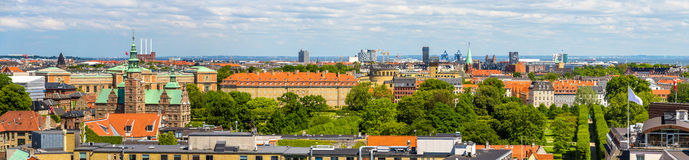 Panorama of Copenhagen from The Round Tower Royalty Free Stock Photos