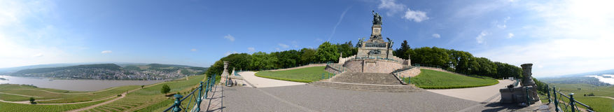 Panorama coppice monument Royalty Free Stock Image
