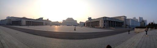 Panorama coréen du nord en Corée du Nord Images stock