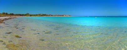 Panorama - Coral Bay, västra Australien Arkivbilder