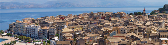 Panorama of Corfu Stock Photography