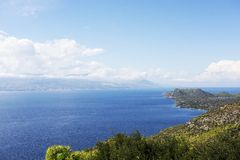 Panorama of Corinth area in Greece Royalty Free Stock Photos