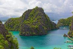 Panorama of Coron Island, Philippines. Stock Photos