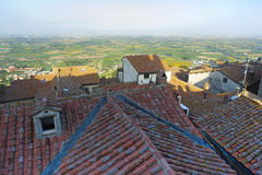 Panorama from Cortona Royalty Free Stock Photo