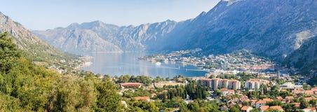 Panorama cosido del Kotor Imagen de archivo libre de regalías