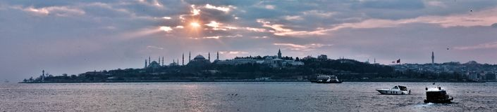 Panorama Costantinopoli fotografie stock libere da diritti