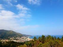 Panorama costiero del Riviera ligure Immagine Stock Libera da Diritti