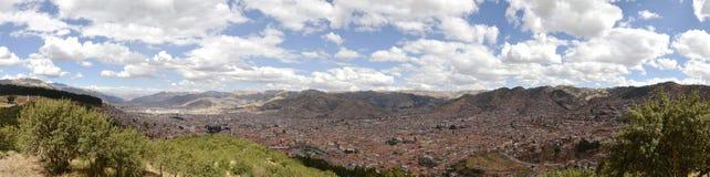 Panorama costurado da cidade de Cuzco Imagens de Stock Royalty Free