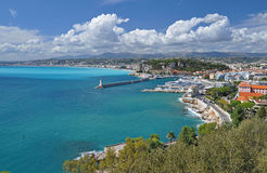 Panorama of the Cote d`azur of nice, France Royalty Free Stock Photo