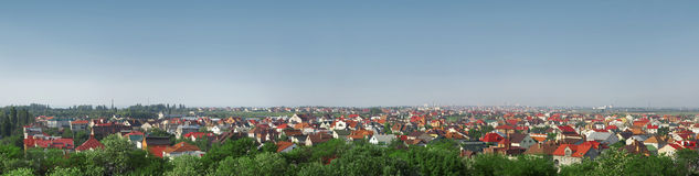 Panorama of cottage suburban Royalty Free Stock Images