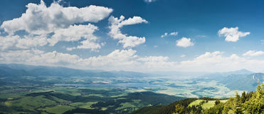 Panorama of country in the beggining of summer Royalty Free Stock Photography