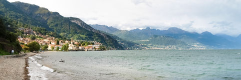 Panorama of the country overlooking Lake Como Stock Photos