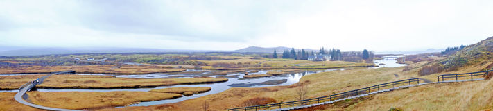 Panorama in the countryside from Iceland Stock Photography