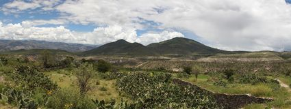 Panorama of countryside landscape in Peru Stock Photography