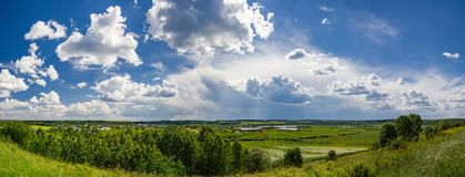 Panorama of the countryside in Russia royalty free stock photos