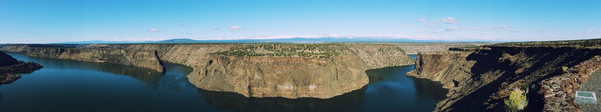 Panorama of the Cove Palisades State Park. Stock Photo