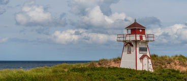 Panorama of Covehead Lighthouse in Stanhope. (Prince Edward Island, Canada Stock Images