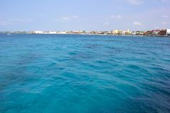 Panorama of  Cozumel, Mexico, Caribbean Royalty Free Stock Images
