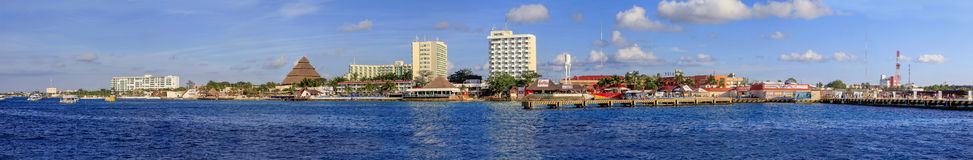 Panorama Of Cozumel, Mexico Stock Image