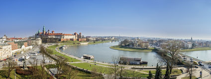 Panorama of Cracow. Panaroma of Cracow, Malopolska Province, Poland Stock Photos