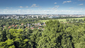 Panorama of Cracow Royalty Free Stock Image