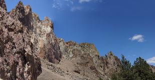 Panorama, Craggy rhyolite ridge Royalty Free Stock Images