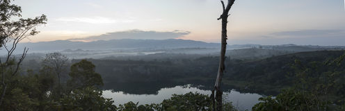 Panorama of crater lake, Uganda, Africa Stock Photo
