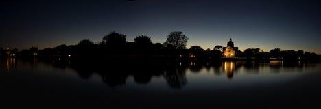 Panorama crepuscular fotografia de stock