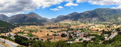 Panorama of Crete island Stock Photo