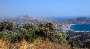 Panorama Crete wyspy krajobraz, Grecja zdjęcie stock